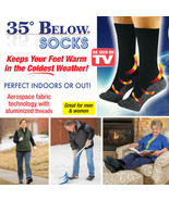 5 pair 35 Below Outdoor Socks Black As Seen on tv - Large - $29.70