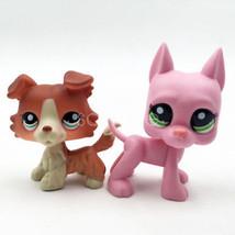 2pcs LPS #2598 Pink Dane Dog Littlest Pet Shop Collie Dog #1542 Puppy Gi... - $19.94