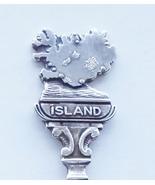 Collector Souvenir Spoon Iceland Reykjavik Island Map Figural - $19.99
