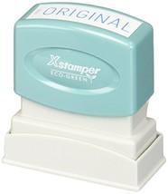 """XstamperR One-Color Title Stamp, Pre-Inked, """"Original"""", Blue"""