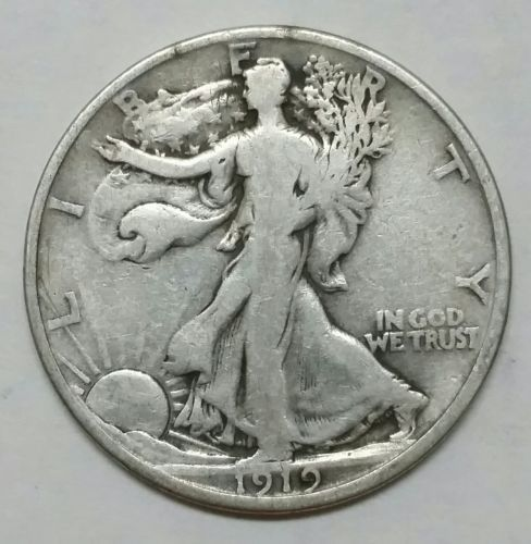 1919D Walking Liberty Half Dollar 90% Silver Coin Lot# EA 361