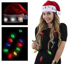 Funny Party Hats Santa Hats - Christmas Novelty Hats - Blinking Santa Ha... - €13,83 EUR