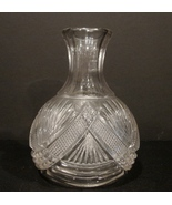 Antique American Brilliant Period Deep Cut Crystal Glass Water Carafe De... - $45.00