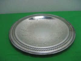 """Vintage WM Rogers No. 126  15"""" Silver Plated Platter Bowl with Gadrooned... - $18.65"""