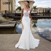 New Sexy Sleeveless Illusion Open Back Princess Mermaid Trumpet Wedding Dress image 6