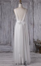 Long Straps White Tulle Chiffon Bridesmaid Wedding Gown Dresses 2017 - $95.00