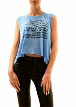 Wildfox Ladies Warm Nights Chad Tank Top Azure Blue Size S RRP £ 59 BCF73 - $29.58