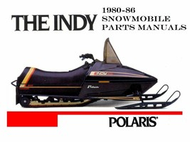 Polaris Indy 1980-1986 Snowmobile Parts Manua Ls For 1981 1982 1983 & 1984 Sleds - $23.99