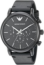 Emporio Armani Men's AR1918 Dress Black Leather Watch - $239.25