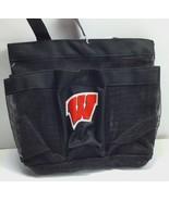 Wisconsin Badgers NCAA /  Black Mesh Team Shower Caddy Tote Bag / Dorm Room - $21.48