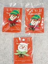 3 Avon Bell Buddy Holiday Magnet Santa Elf Gift Collection - $14.53