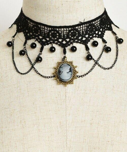 Women Fashion Jewelry Retro Vintage 90's Choker Cameo Crochet Punk Beads Goth - $11.67