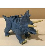 Fisher Price Imaginext Triceratops Dinosaur Dino Blue Sound Roars - $11.99