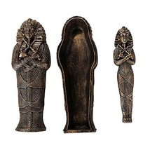 Pacific Giftware Ancient Egyptian Artifact Collectible King TUT Sarcophagus Coff - $10.99