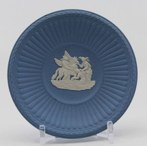 Wedgwood Jasperware Light Blue Small Pin Dish Plate Pegasus Muses 7.7 cm... - $23.42