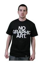 Dissizit Herren Schwarz Nein Grafik Kunst T-Shirt Hergestellt IN USA Compton