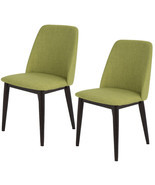Set Of 2 Upholstered Mid-Century Solid Wood Dining Chair Kitchen Furnitu... - €146,92 EUR