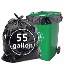 Nicesh 55 Gallon Lawn and Leaf Trash Bags, Black, 66 Counts - $29.14