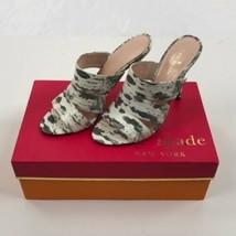 Gray Kate Spade Fission Mule Sandals, Lizard Print, NIB sz 6.5 - $95.67