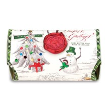 Michel Design Works Season's Greetings Large Bath Soap Bar 8.7oz - $18.00