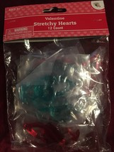 Valentines Stretchy Hearts 13 Count. NEW - $8.79
