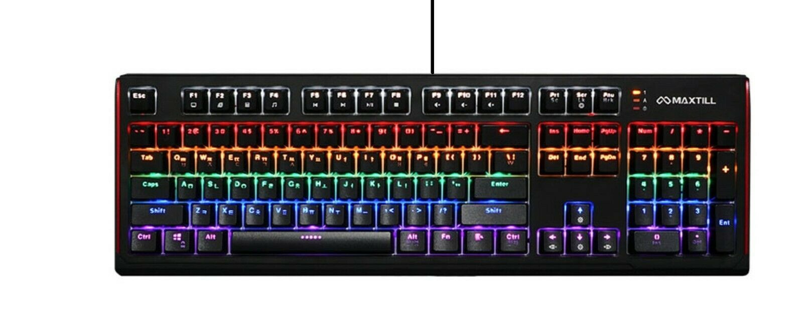 Maxtill G410K Pro Mechanical Gaming Keyboard Jixian Optical Switch USB Wired LED