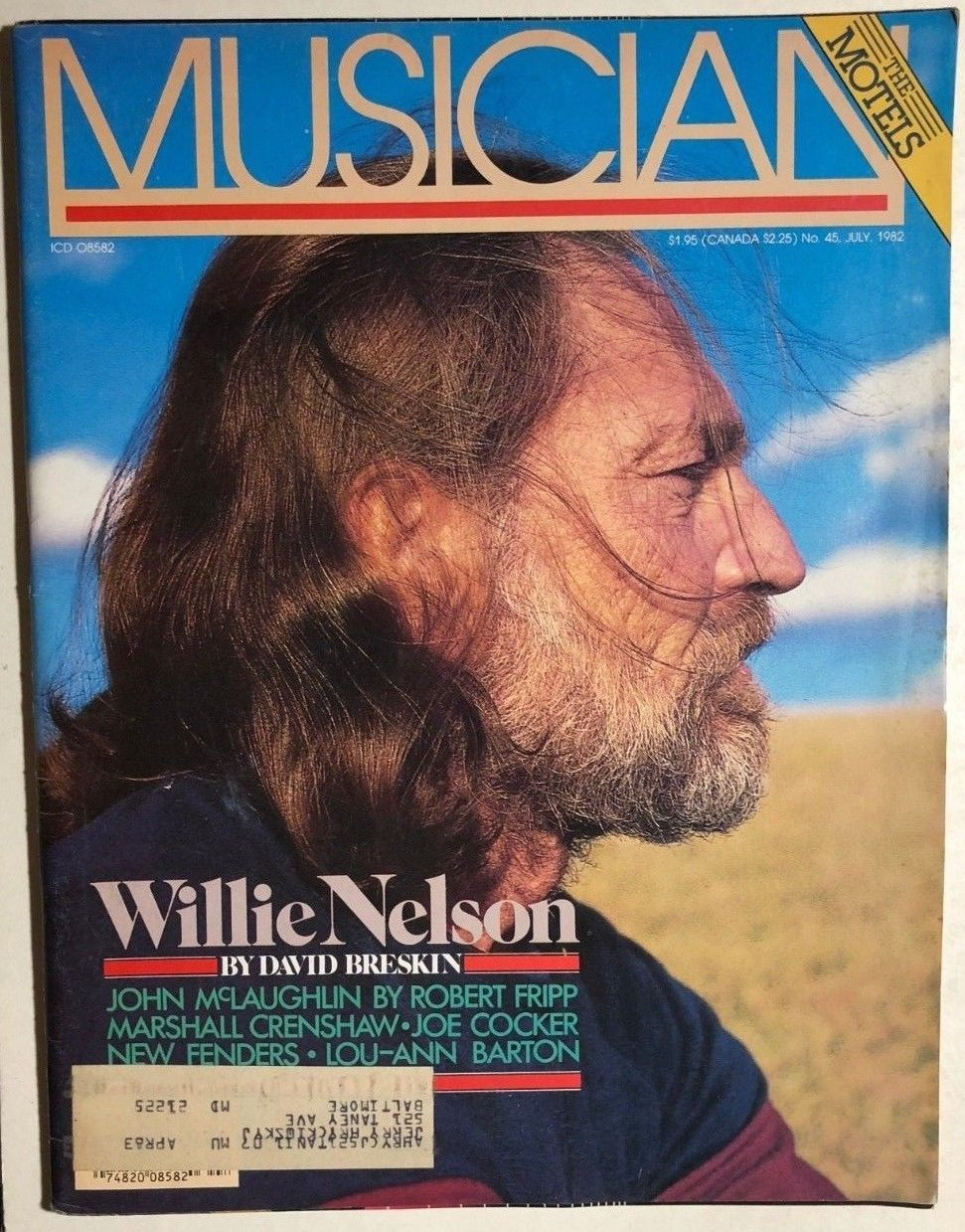 Primary image for MUSICIAN Magazine #45 July 1982 Willie Nelson