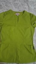 KOI Kathy Peterson Women's Scrub Top Sz S Lime Green , Yellow Green - $13.85