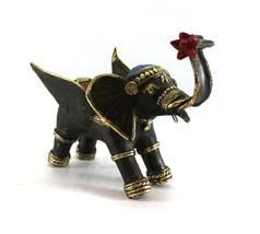 Elephant Statue Sculpture Figure Brass Dokra Art Vintage Home Decor Coll... - $95.00