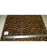 Brown Gold Tiger Print Chenille Fabric / Upholstery Fabric 1 Yard  F1446 - $49.95