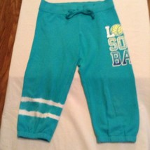 Size 8 Girls Justice pants sweat pants sequin softball exercise - $7.99