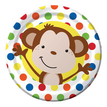 Fun Monkey Dessert Plates (8) - $1.18
