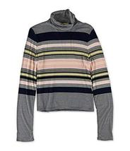 Aeropostale Womens Striped Turtleneck Pullover Sweater 404 M - $13.38