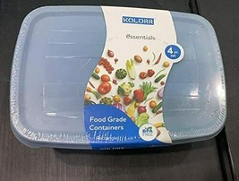 Set of 4 Box Kolorr Essentials Square Box Food Grade Container With Airt... - $32.66