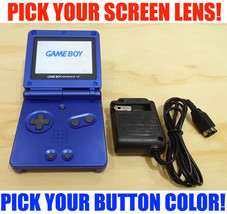 Nintendo Game Boy Advance GBA SP Blue System AGS 101 Brighter Pick Buttons! - $147.07