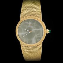 Omega 18K Oro Giallo Giada Dial Ladies' Yg Bracciale Orologio Bello - $15,500.68