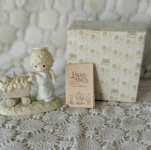 Enesco Precious Moments Bringing God's Blessing To You Figure 1983 - $9.69