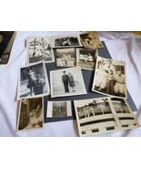 VTG 11 pc Photographs Snapshots old black & white photos Nature people T... - $15.05