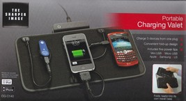 Sharper Image Portable Cellphone Charger Mat Valet 3 Devices Charging CG... - $29.70