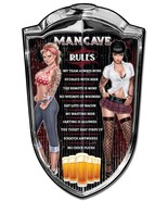 "Man Cave Rules Pinup Plasma Cut Metal Sign ( 36"" by 24"" ) - $89.95"