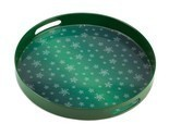 Green snowflake serving tray thumb155 crop