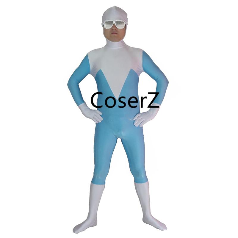 Superhero Frozone Costume Halloween Party Cosplay Zentai Suit image 2