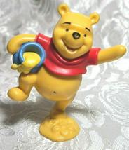 "WINNIE THE POOH BEAR 3"" Cake Topper Figure PVC Plastic Toy Disney Honey Pot"