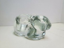 Vintage Rabbit Clear Glass Votive Candle Holder Shade Burner Indiana Glass - $14.00
