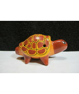 Beautiful Handmade and Painted Clay Turtle Flute Great Sound - $19.95