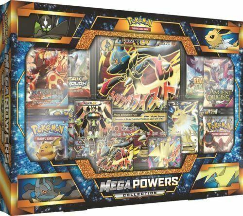 Mega Powers Collection Box Pokemon Trading Cards Packs & Full Art Promos