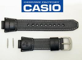 Genuine CASIO WATCH BAND STRAP FISHING GEAR RUBBER BLACK AMW-700 AMW-700B - $41.95