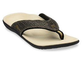 Spenco Sandal Women's Yumi Gold Canvas - Black Gold - Size (10) - $45.78