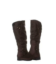 White Mountain Leto Slouch Knee High Boots 930, Coffee, 8.5 US - $30.71