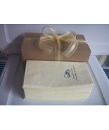 50 PERSONALIZED hand guest towels dinner NAPKINS WEDDING in gift box wit... - $16.78